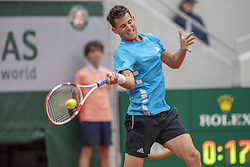 Austria's Dominic Thiem during his men's singles second round match against Kazakhstan's Alexander Bublik on day five of The Roland Garros 2019 French Open tennis tournament in Paris on May 30, 2019. Photo by ABACAPRESS.COM