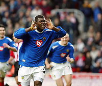 Fotball<br /> FA-cup 2005<br /> Southampton v Portsmouth<br /> 29. januar 2005<br /> Foto: Digitalsport<br /> NORWAY ONLY<br /> Yakubu celebrates his goal but where will he be playing next week?