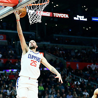 04 March 2018: LA Clippers guard Austin Rivers (25) goes for the layup during the LA Clippers 123-120 victory over the Brooklyn Nets, at the Staples Center, Los Angeles, California, USA.