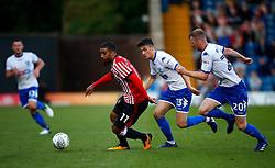 Lewis Grabban of Sunderland takes on Robert Lainton of Bury- Mandatory by-line: Matt McNulty/JMP - 10/08/2017 - FOOTBALL - Gigg Lane - Bury, England - Bury v Sunderland - Carabao Cup - First Round