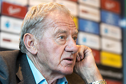 Milan Mandaric at press conference of NK Olimpija Ljubljana about new head coach Luka Elsner, on September 2, 2016 in Champions Lounge, Austria Trend Hotel, Ljubljana, Slovenia. Photo By Matic Klansek Velej / Sportida