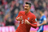 1:0 Jubel Torschuetze Robert Lewandowski (Bayern) <br /> Muenchen, 04.02.2017, Fussball Bundesliga, FC Bayern München - FC Schalke 04 1:1<br /> <br /> Norway only