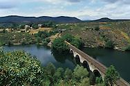 Cevennes. landscape the massif central train near Langogne    France  le train du massif central pres de Langogne France