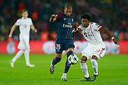 Paris Saint Germain's French forward Kylian Mbappe vies with Bayern Munich's Austrian defender David Alaba during the UEFA Champions League, Group B football match between Paris Saint-Germain and Bayern Munich on September 27, 2017 at the Parc des Princes stadium in Paris, France - Photo Benjamin Cremel / ProSportsImages / DPPI