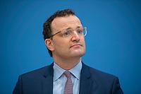 DEU, Deutschland, Germany, Berlin, 26.02.2021: Bundesgesundheitsminister Jens Spahn (CDU) in der Bundespressekonferenz zur Corona-Lage im Lockdown.