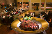 Cole's Chop House Restaurant, Napa, California. Napa Valley. Grilled sirloin chop.