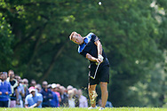 Teddy Sheringham hits out of the rough during the Celebrity Pro-Am day at Wentworth Club, Virginia Water, United Kingdom on 23 May 2018. Picture by Phil Duncan.