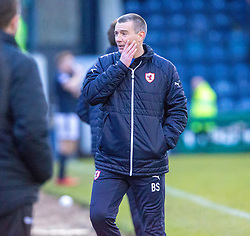 Raith Rovers manager Barry Smith. Raith Rovers 2 v 1 Airdrie, Scottish Football League Division One game played 10/2/2018 at Stark's Park, Kirkcaldy.