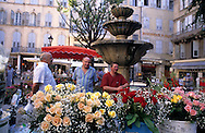 Flower market on the main square