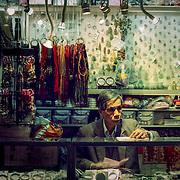 Jade trinket stall, Hong Kong, China (January 2006)