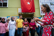 The annual bird/whistling language festival being held in the village of Kuşköy near the Black Sea town of Ordu on Turkey's northern coast. The village and the surrounding hills are home to the only part of Turkey where the bird/whistling language is still in use.