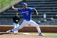 WINSTON-SALEM, NC - MARCH 04: UMass Lowell's Henry Funaro. The Wake Forest University Demon Deacons hosted the UMass Lowell River Hawks on March 4, 2018, at David F. Couch Ballpark in Winston-Salem, NC in a Division I College Baseball game. Wake Forest won the game 14-7.