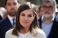 041119 Queen Letizia attends the opneing of the exhibition 'Angeli'