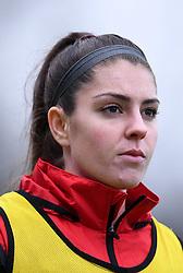 Carla Humphrey of Bristol City Women prior to kick off - Mandatory by-line: Ryan Hiscott/JMP - 13/12/2020 - FOOTBALL - Twerton Park - Bath, England - Bristol City Women v West Ham United Women - Barclays FA Women's Super League