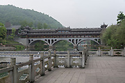 Anshun Bridge Chengdu, Kuan Zhai Xiang Zi historic city. Sichuan, China