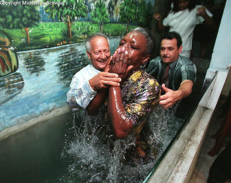 Church baptism in Havana
