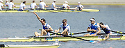Poznan, POLAND, Final, Men's lightweight  four FRA LM4- Gold medalist, at the 2008 FISA World Cup. Rowing Regatta. Malta Rowing Course on Sunday, 22/06/2008. [Mandatory Credit:  Peter SPURRIER / Intersport Images] . Rowing Course:Malta Rowing Course, Poznan, POLAND