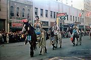 CS00522-01.  Pendleton Round-Up Parade, 1940s.