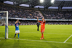 October 29, 2017 - Napoli, Napoli, Italy - Naples - Italy 29/10/2017.JOSE' REINA and DRIES MERTENS  of  S.S.C. NAPOLI during Serie A  match between S.S.C. NAPOLI and Sassuolo  at Stadio San Paolo of Naples. (Credit Image: © Emanuele Sessa/Pacific Press via ZUMA Wire)