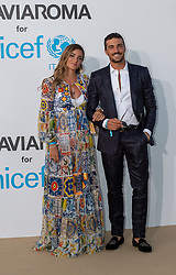 Eleonora Brunacci, Mariano Di Vaio arriving at a photocall for the Unicef Summer Gala Presented by Luisaviaroma at Villa Violina on August 10, 2018 in Porto Cervo, Italy. Photo by Alessandro Tocco/ABACAPRESS.COM
