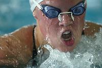 Svømming - NM i langbane Piranlegget Trondheim 6. juli 2002. Elisabeth Jarland 400 m Medley finale - bryst.<br /> <br /> Foto: Andreas Fadum, Digitalsport