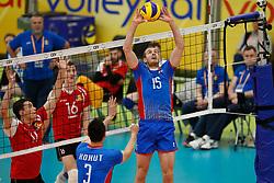 20170525 NED: 2018 FIVB Volleyball World Championship qualification, Koog aan de Zaan<br />Juraj Zatko (15) of Slovakia <br />©2017-FotoHoogendoorn.nl / Pim Waslander