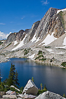 Lookout Lake below the Diamond of the Snowy Range of the Medicine Bow Mountains. Wyoming.