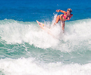 EXCLUSIVE<br /> Bethany Hamilton Surfing with her baby bump, in Hawaii the first pictures shot of her pregnant, When she was 13, a 15ft tiger shark dragged Bethany Hamilton from her surfboard and bit off her arm, but she battled back to fitness to become a national champion, and now even being pregnant will not hold her back from what she loves doing most<br /> ©Exclusivepix Media
