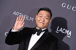 PSY attends the 2016 LACMA Art + Film Gala honoring Robert Irwin and Kathryn Bigelow presented by Gucci at LACMA on October 29, 2016 in Los Angeles, California. Photo by Lionel Hahn/AbacaUsa.com