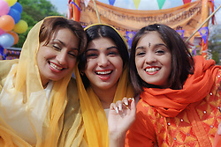 Group of young women at Sikh Festival in Hyson Green; Nottingham,