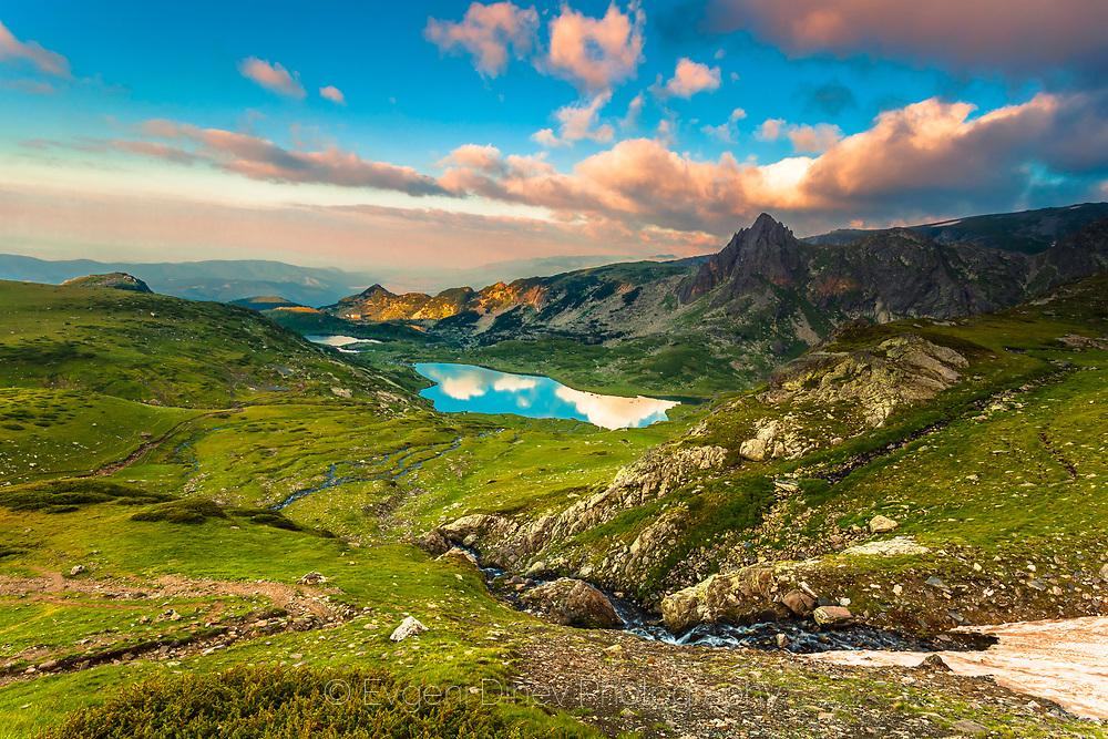 Seven Rila Lakes at springtime