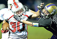 Israel Bowen, left, of Firelands rushes against Vermilion's Louis Maynard in the fourth quarter.
