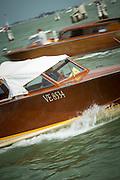Water Taxi on the Venetian Lagoon, Venice, Italy, Europe