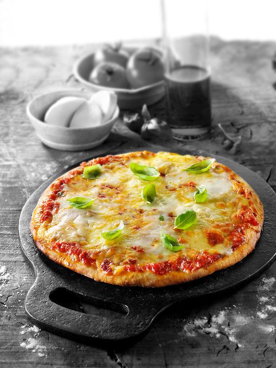 Italian cheese Pizza photo. Funky Stock pizzas photos