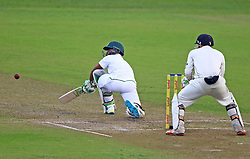 Temba Bavuma during day one of the first test match between South Africa and New Zealand held at the Kingsmead stadium in Durban, KwaZulu Natal, South Africa on the 19th August 2016<br /> <br /> Photo by:   Anesh Debiky / Real Time Images