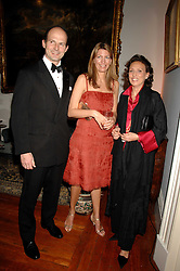 Left to right, COUNT & COUNTESS RICCARDO PAVONCELLI she was Cosima Von Bulow daughter of Claus Von Bulow and SARA CARELLO  at a dinner hosted by the Italian Ambassador for the Buccellati family held at the Italian Embassy, Grosvenor Square, London on 28th March 2007.<br /><br />NON EXCLUSIVE - WORLD RIGHTS