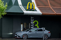 McDonalds reopens for takeaways Stratford Road Shirley Solihull photo by Chris wynne