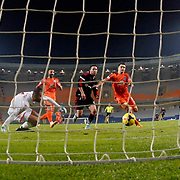 Besiktas's Karim Koyunlu goal during their Turkish Super League soccer match Istanbul Basaksehir between Besiktas at the Basaksehir Fatih Terim Arena at Basaksehir in Istanbul Turkey on Sunday, 09 November 2014. Photo by Kurtulus YILMAZ/TURKPIX