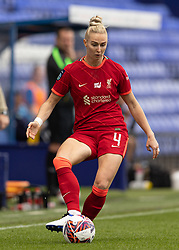 BIRKENHEAD, ENGLAND - Sunday, August 29, 2021: Liverpool's Rhiannon Roberts during the FA Women's Championship game between Liverpool FC Women and London City Lionesses FC at Prenton Park. London City won 1-0. (Pic by Paul Currie/Propaganda)