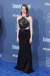 Emma Stone, The 22nd Annual Critics Choice Awards at Barker Hangar (Santa Monica, CA.)