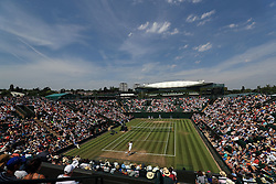 6 July 2017 -  Wimbledon Tennis (Day 4) - A general view (GV) of Court 2 - Photo: Marc Atkins / Offside.