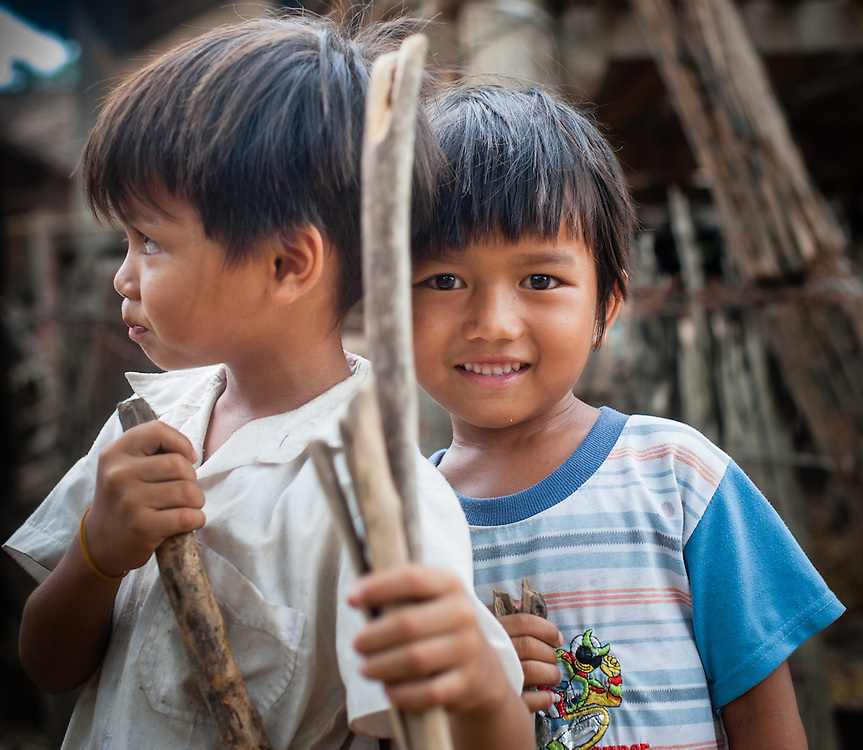 Two boy friends portrait (Vietnam)