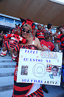 flamengo fan at the final of the soccer rio state championship 2007 between flamengo and botafogo in the maracana stadium in rio de janeiro brazil