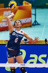 16-10-2018 JPN: World Championship Volleyball Women day 17, Nagoya<br /> Netherlands - China 1-3 / Xiangyu Gong #6 of China