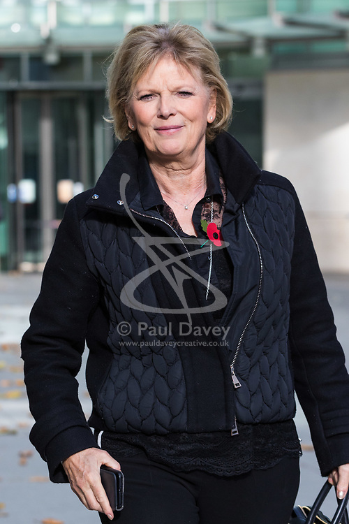 London, November 05 2017. Small Business Minister Anna Soubry leaves the Andrew Marr Show at the BBC's New Broadcasting House in London.. © Paul Davey