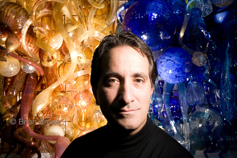James (Jim) Bianco, CEO of Cell Theraputics Inc. Photographed by Brian Smale at Dale Chihuly's residence in Seattle, WA for BusinessWeek Magazine.