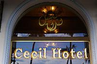 Egypte, la côte méditerranéenne, Alexandrie, la corniche, l'hôtel Cecil (Sofitel). // Egypt, Alexandria, the Corniche, Hotel Cecil (Sofitel).