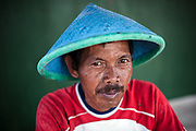 Portrait of a fisherman on Thousand Islands, a Island group located in the Java Sea near the coast of Jakarta.