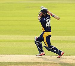 Glamorgan's Colin Ingram hits a six - Photo mandatory by-line: Robbie Stephenson/JMP - Mobile: 07966 386802 - 03/07/2015 - SPORT - Cricket - Southampton - The Ageas Bowl - Hampshire v Glamorgan - Natwest T20 Blast