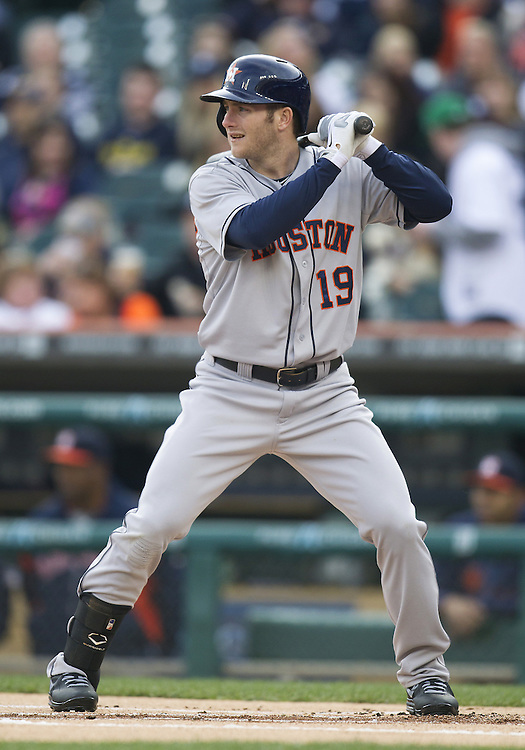 May 13, 2013:  Houston Astros outfielder Robbie Grossman (19) at bat during MLB game action between the Houston Astros and the Detroit Tigers at Comerica Park in Detroit, Michigan.  The Tigers defeated the Astros 7-2.